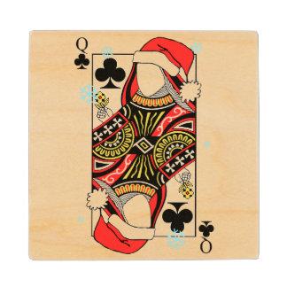 クラブのメリークリスマスの女王-あなたのイメージを加えて下さい ウッドコースター