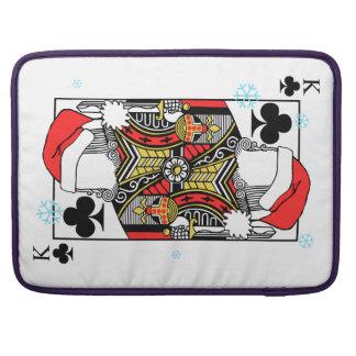 クラブのメリークリスマス王-あなたのイメージを加えて下さい MacBook PROスリーブ