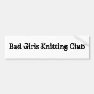 クラブを編んでいる悪い女の子 バンパーステッカー