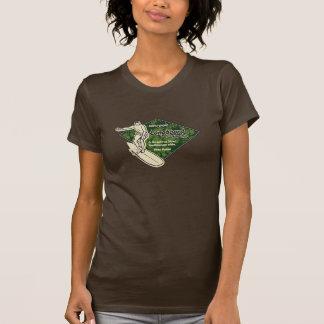 クラブサーフィンのダイヤモンドのロゴGalsのティー Tシャツ