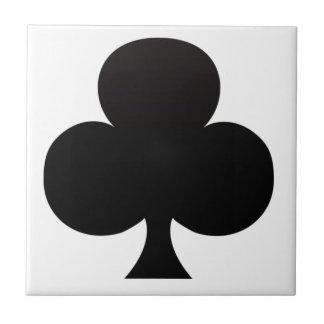 クラブトランプのポーカーアイコン タイル