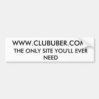 クラブUberのバンパーステッカー#2 バンパーステッカー