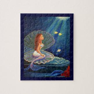 クラムシェルの人魚の芸術のパズル-スーザンRodio著… ジグソーパズル