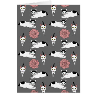 クララおよびキャスパー猫パターン カード