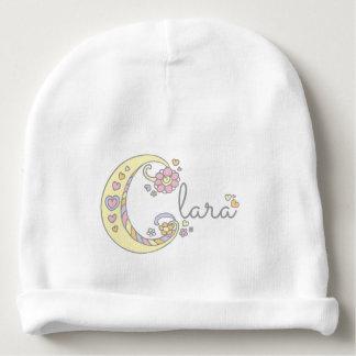 クララかあなた自身のCの一流の女の赤ちゃんの帽子 ベビービーニー