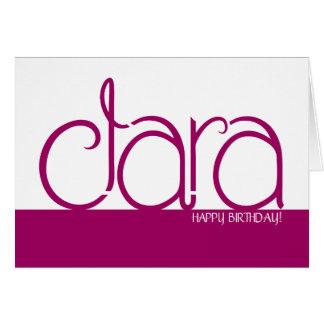 クララのプラムバースデー・カード カード