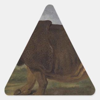 クララジーンBaptiste Oudry著サイ 三角形シール
