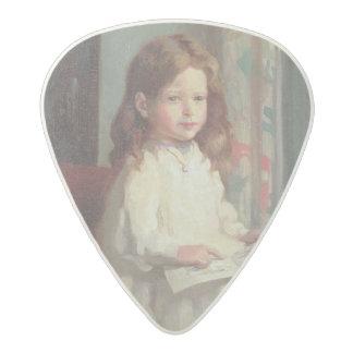 クララヒューズ1902年のポートレート(キャンバスの油) アセタール ギターピック