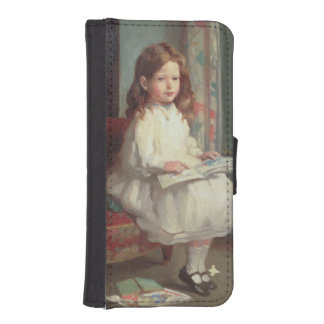 クララヒューズ1902年のポートレート(キャンバスの油) iPhoneSE/5/5sウォレットケース