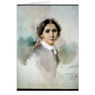 クララ・シューマン1853年のポートレート カード