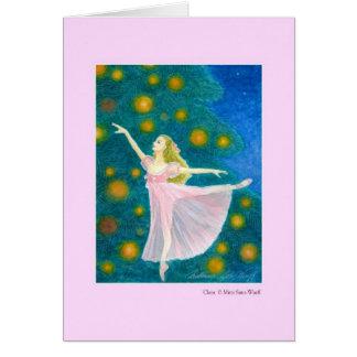 クララ バレエグリーティングカード カード