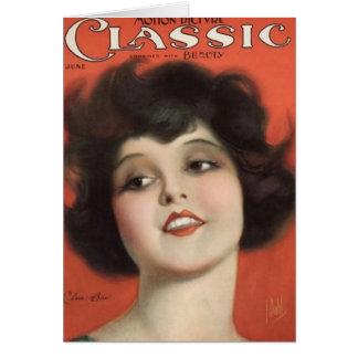 クララ・ボウのヴィンテージ1925年の映画雑誌カード カード