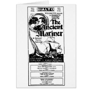 クララ・ボウの古代船員1926年の映画広告カード カード