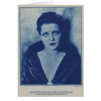 クララ・ボウの1927年のポートレート カード