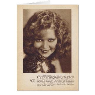 クララ・ボウの1931年のヴィンテージのポートレートカード カード