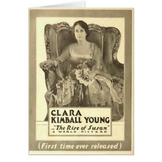 クララKimballの若者の1916年の展示者広告 カード