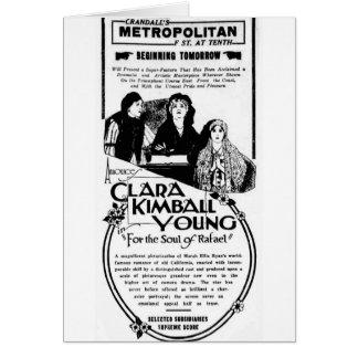 クララKimballの若者の1920年のヴィンテージ映画広告カード カード