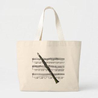 クラリネットのミュージカル09 B ラージトートバッグ