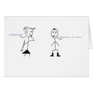 クラリネットのユーモア カード