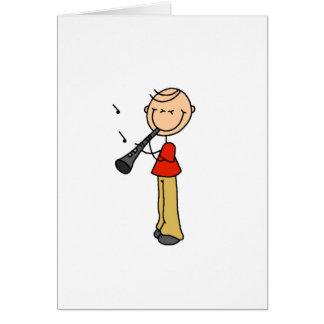 クラリネットの棒の姿カード グリーティングカード