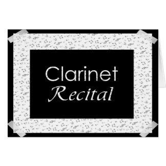クラリネットの演奏会 グリーティングカード