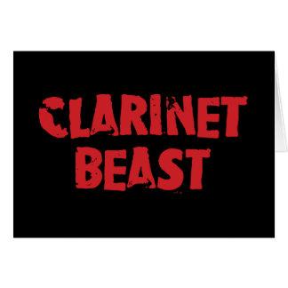 クラリネットの獣の挨拶状 グリーティングカード
