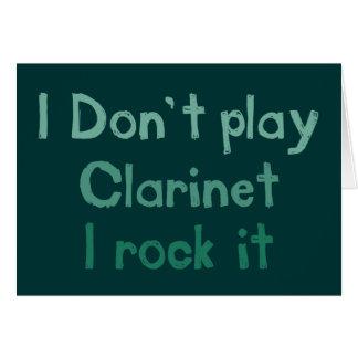 クラリネットの石それ挨拶状 グリーティングカード
