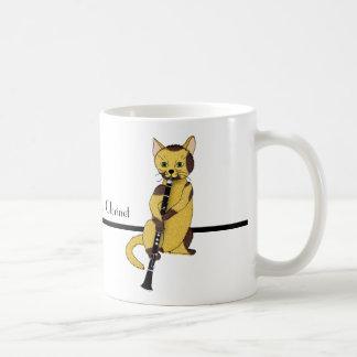 クラリネットはクールな猫によって遊ばれます コーヒーマグカップ