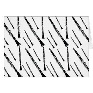 クラリネットパターン グリーティングカード