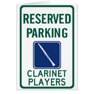 クラリネットプレーヤーの駐車 グリーティングカード