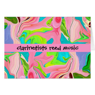 クラリネット奏者のユーモア グリーティングカード