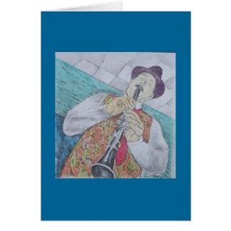 クラリネット奏者 グリーティングカード