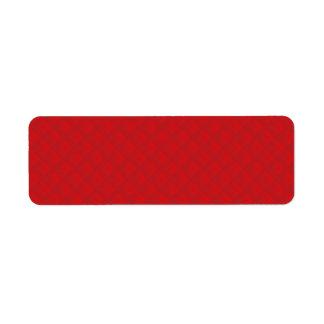 クランベリーのクリスマスの赤によってキルトにされるパターン ラベル
