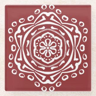 クランベリーの曼荼羅 ガラスコースター