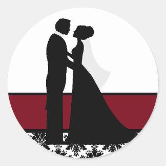 クランベリーの結婚式のカップルのシール ラウンドシール
