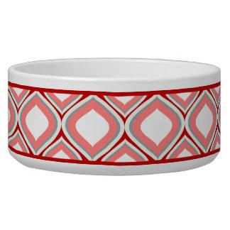 クランベリーの赤いOgee陶磁器犬ボール