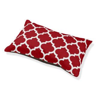 クランベリーの赤く白いモロッコのクローバーパターン#5