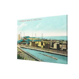 クラークニッカーソンの製材Coの空中写真 キャンバスプリント