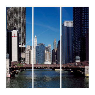 クラーク通り橋、Chicago川のマリーナタワー トリプティカ
