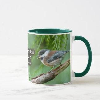 クリに支えられる《鳥》アメリカゴガラ マグカップ