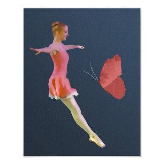 クリのバレリーナは蝶と上がりました フォトプリント