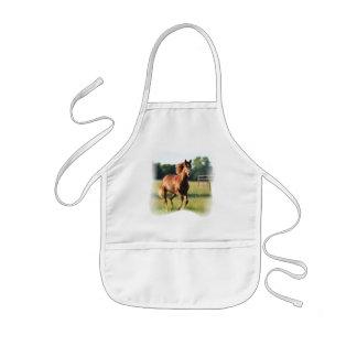 クリの疾走する馬のエプロン 子供用エプロン