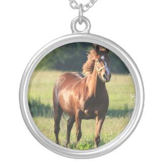 クリの馬の永続的なネックレス シルバープレートネックレス