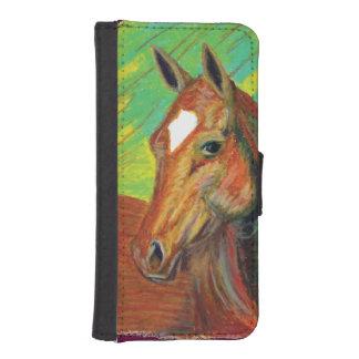 クリの馬頭部の芸術 iPhoneSE/5/5sウォレットケース
