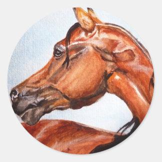 クリの馬 ラウンドシール