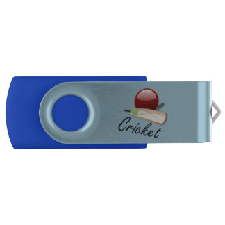 クリケット用バットおよび球は、グラフィックアート設計します USBフラッシュドライブ