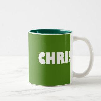 クリスの緑の名前 ツートーンマグカップ