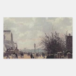 クリスタル・パレス、カミーユ・ピサロ著ロンドン 長方形シール