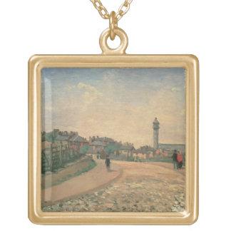 クリスタル・パレス、上部のNorwood (キャンバスの油) ゴールドプレートネックレス