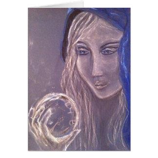 クリスタル・ボールを握る青の女の子 カード
